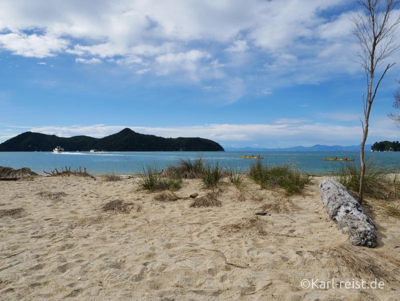 Neuseeland Südinsel Abel Tasman Strand