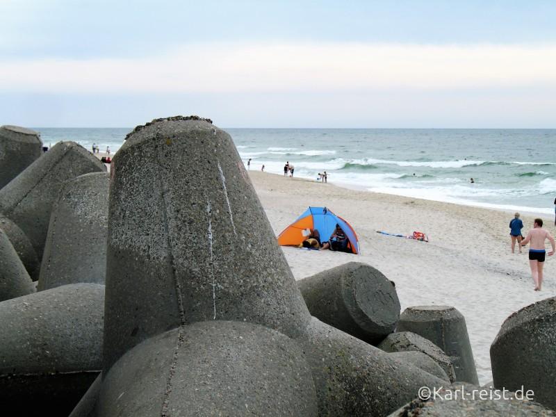 Sylt Strand Wellenbrecher