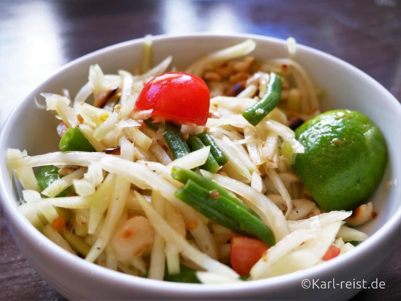 Som Tam Thai thailändisch grüne Papaya Salat Rezept
