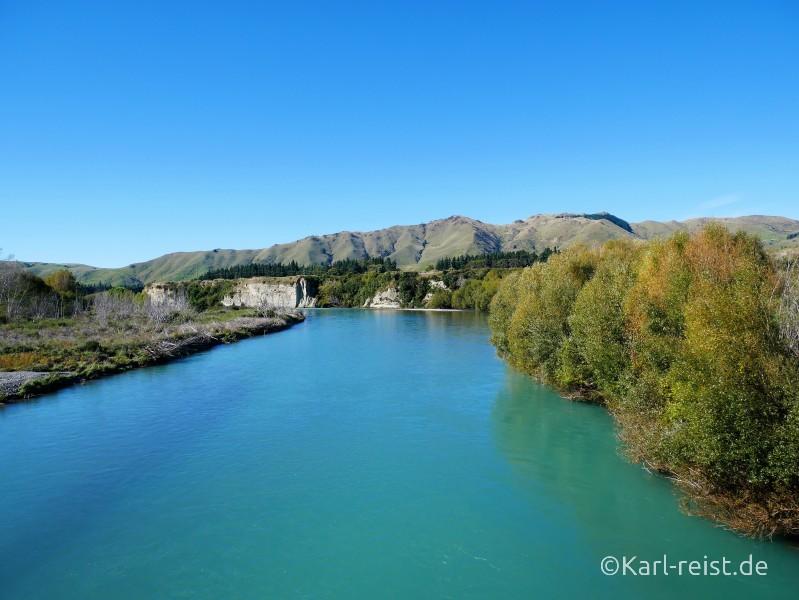 Fluss Suedinsel Neuseeland