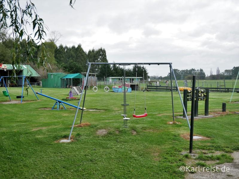 Farmyard Holiday Park Geraldine Spielplatz