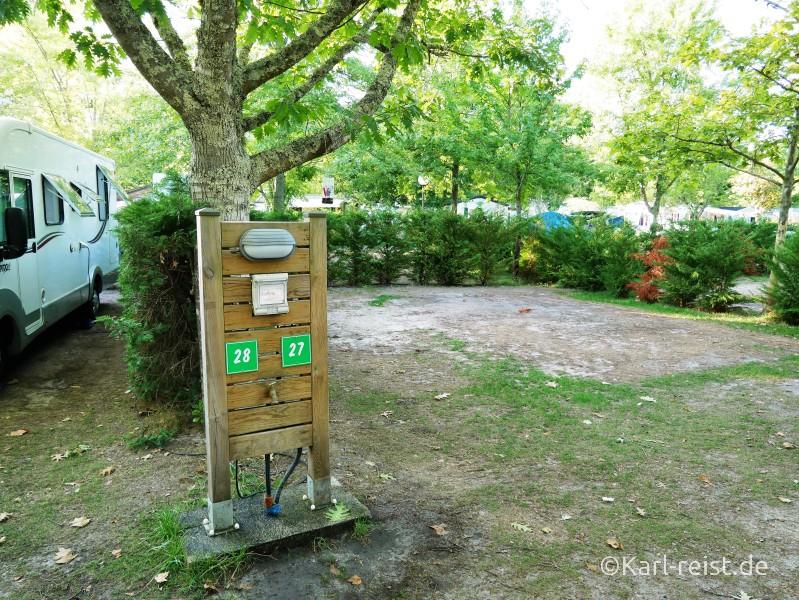 Stellplatz auf dem Campingplatz Flower Camping Bimbo