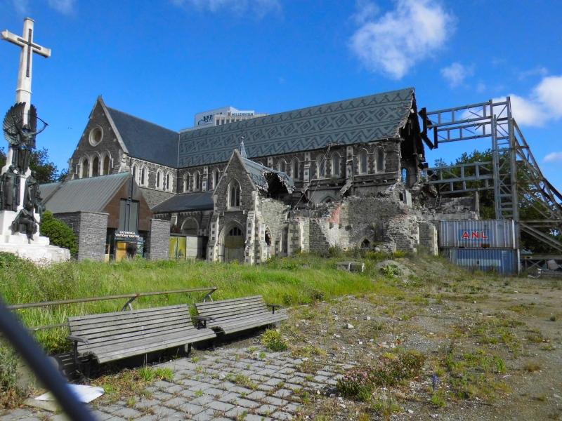 Christchurch eingestürzte Kathedrale