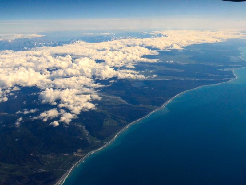 Küste von Neuseelands Südinsel