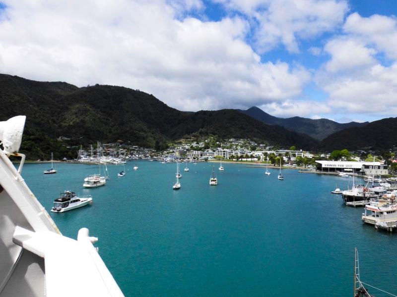 Ankunft im Hafen von Picton