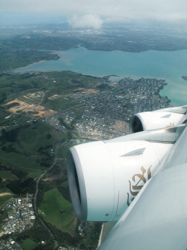 Anflug auf Auckland