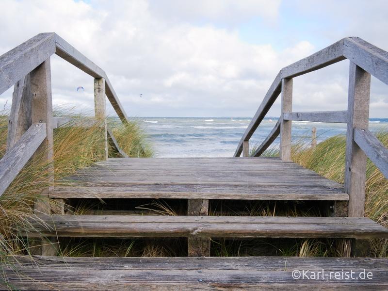 Heiligenhafen Strandzugang Holzbrücke