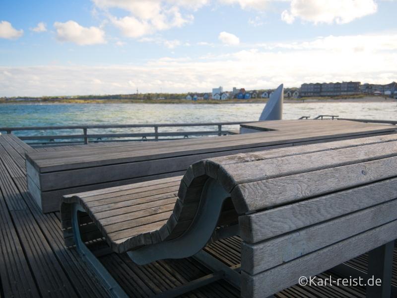 Heiligenhafen Liegeflächen auf Seebrücke
