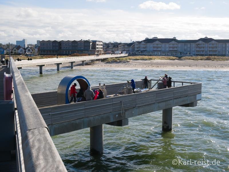 Heiligenhafen Wasserspielplatz auf Seebrücke