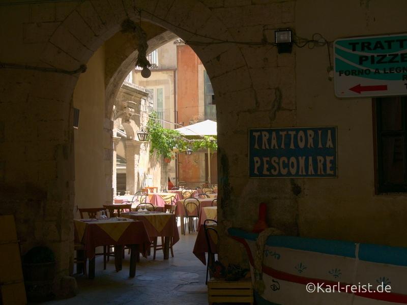 Sizilien Urlaub Syrakus Trattoria