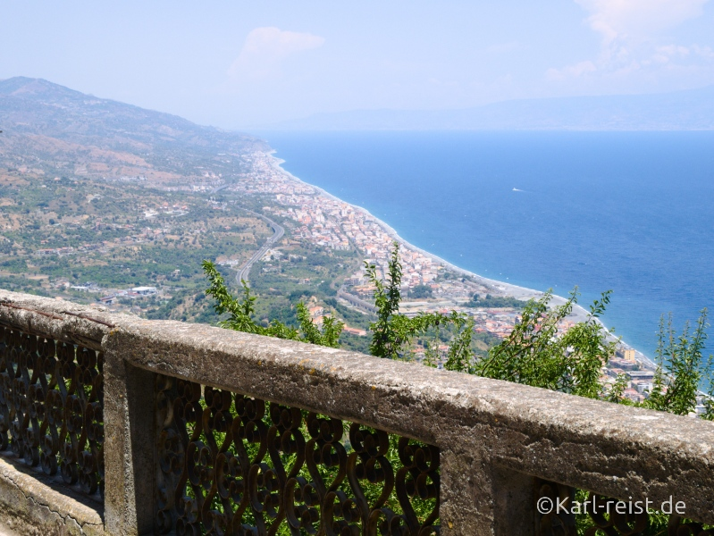Sizilien Urlaub Ausblick Forza d'Agro