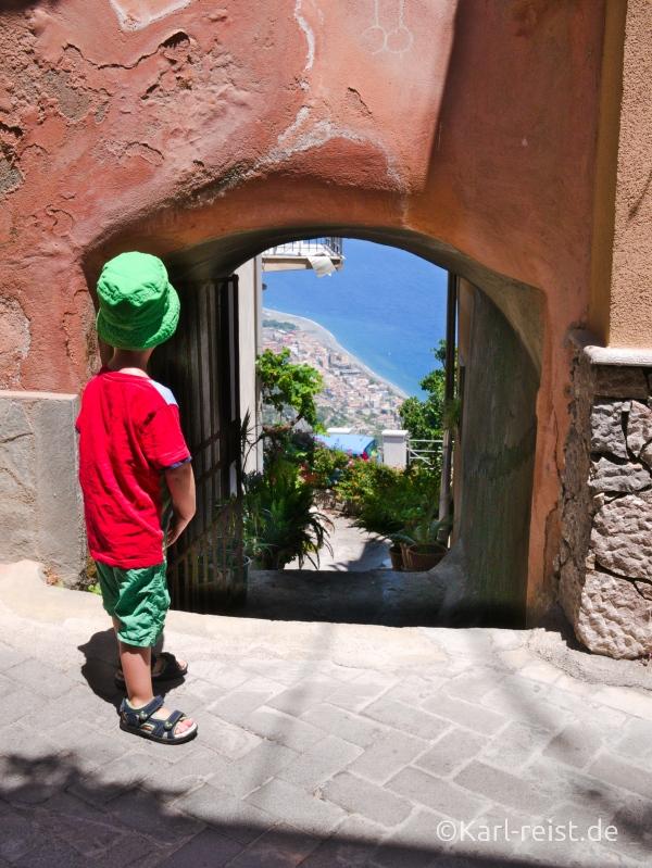 Sizilien Urlaub Forza D'Agro Ausblick