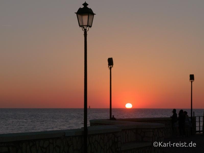 Trapani Sizilien Italien Sonnenuntergang Torre di ligny