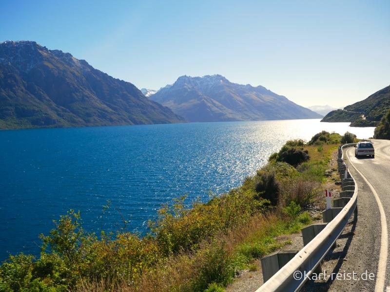 Bild Rundreise Neuseeland Südinsel 3 Wochen Queenstown Lake Wakatipu