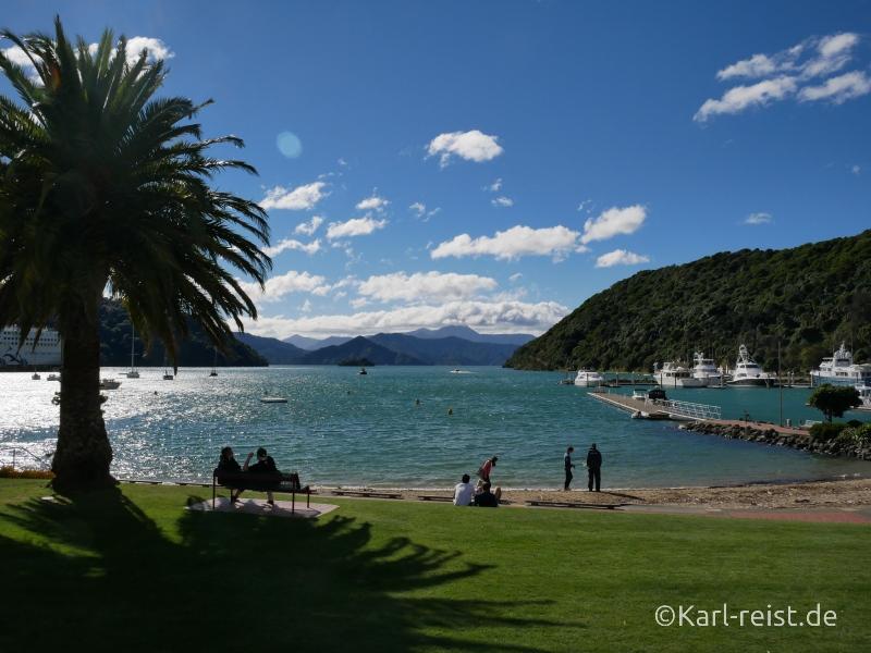 Bild Rundreise Neuseeland Südinsel 3 Wochen Picton Hafen