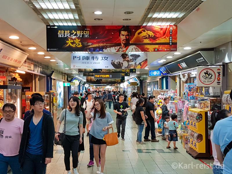 Taipeh Shopping center bahnhof Hauptbahnhof