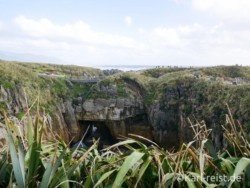 Ausblick Punakaiki Pancake Rocks Neuseeland Rundweg