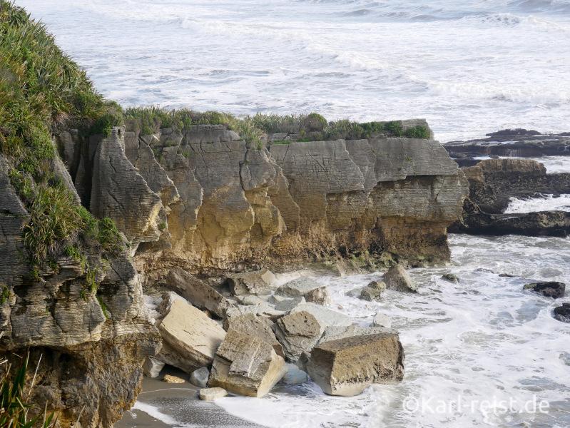 Ausblick Punakaiki Pancake Rocks Neuseeland