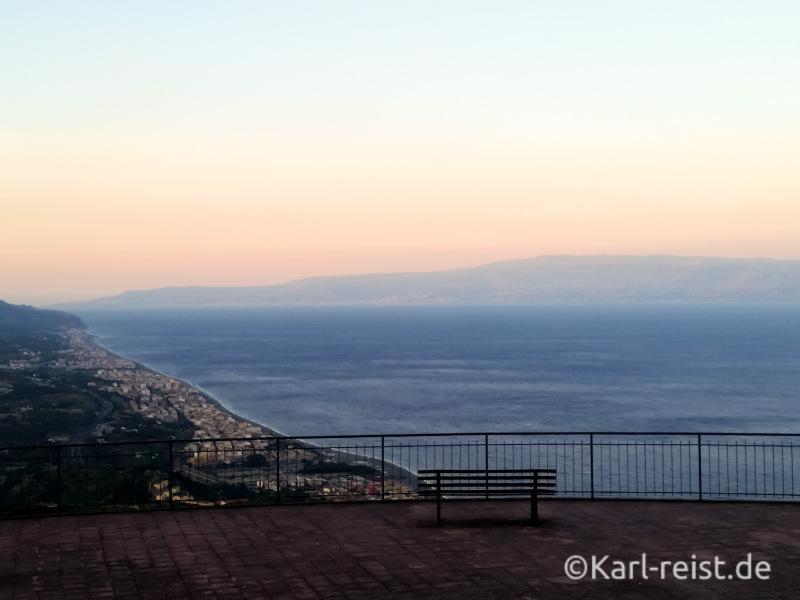 Forza d'Agro Sizilien Aussicht Sonnenuntergang