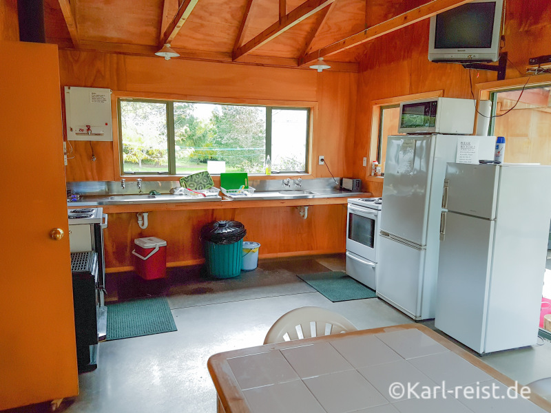 Smiths Farm Holiday Park Marlborough Sounds Camping Küche