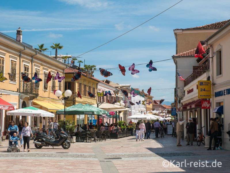 Innenstadt von Shkodra.