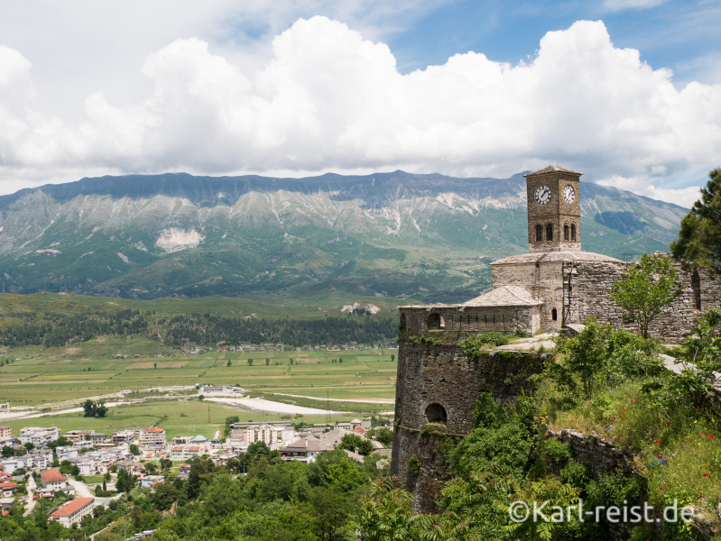 Burg Gjirokaster Glockenturm
