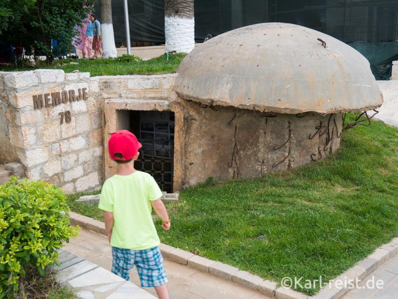 Bunker Denkmal in Saranda
