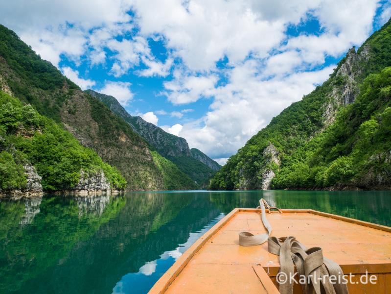 Lake Koman Albanien Bootstour