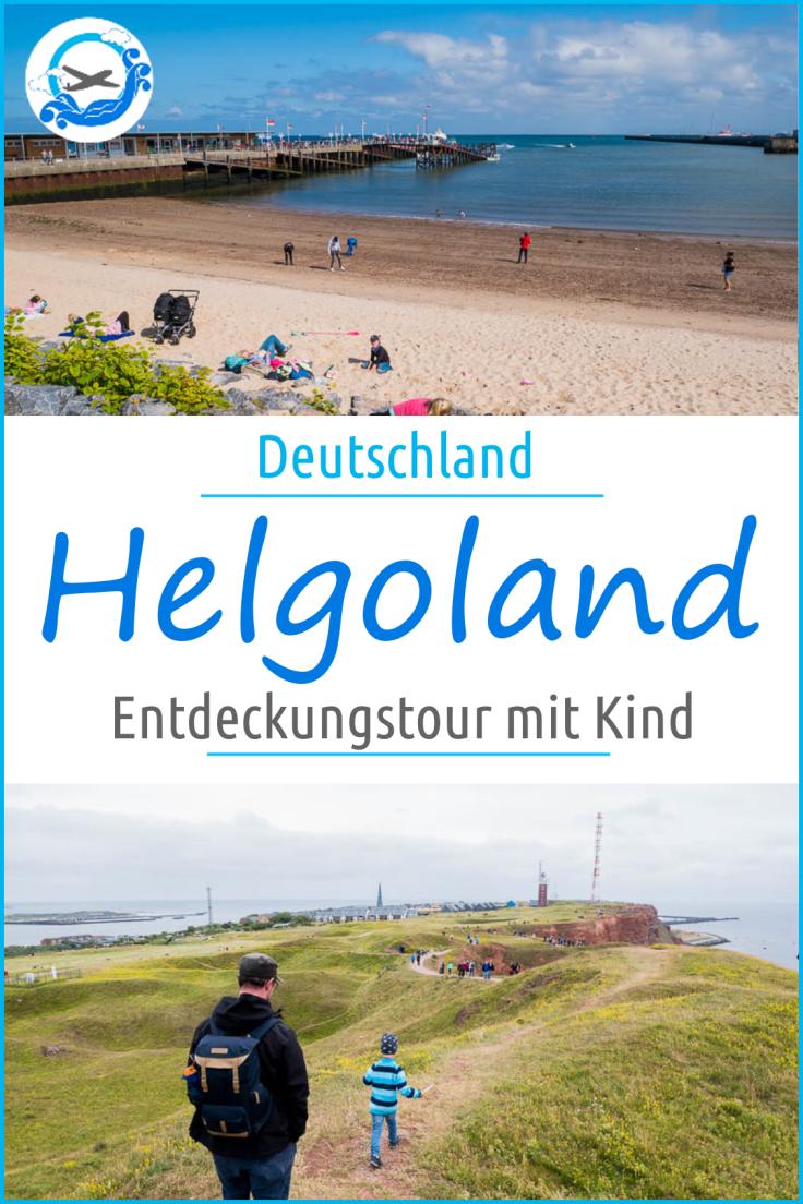 Auf Entdeckungstour auf Helgoland mit Kind. Die Rundtour für die ganze Familie, die sich für mehr als einen Tagesbesuch lohnt.