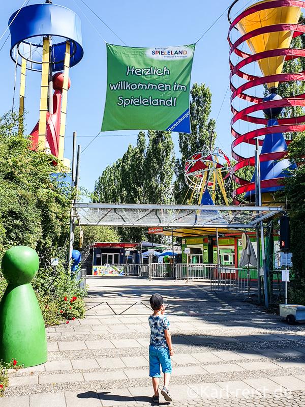 Eingangsbereich vom Ravensburger Spieleland