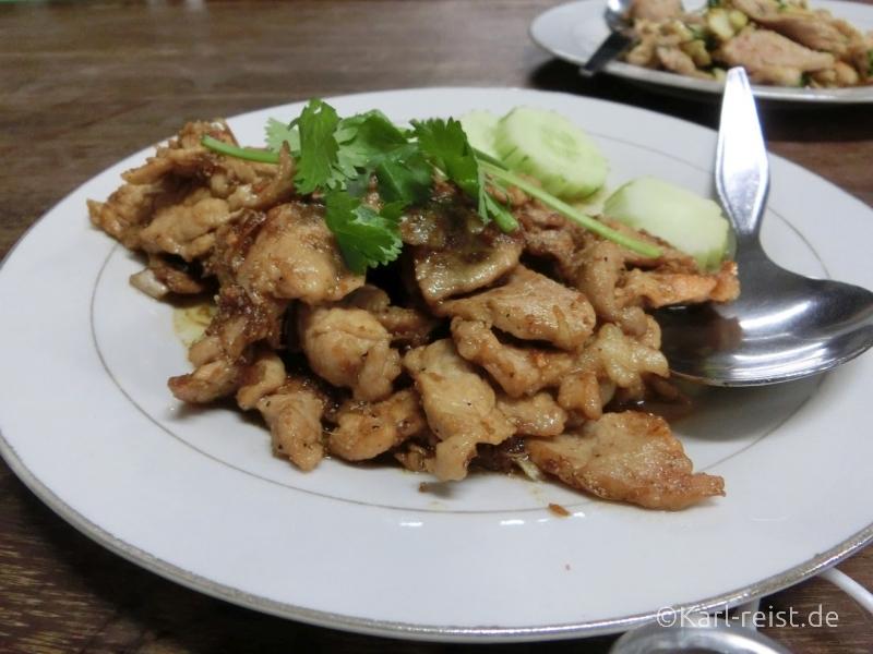 Moo Tod Kra-tiem Prik-tai - Pork Garlic Pepper - Schwein Knoblauch Pfeffer
